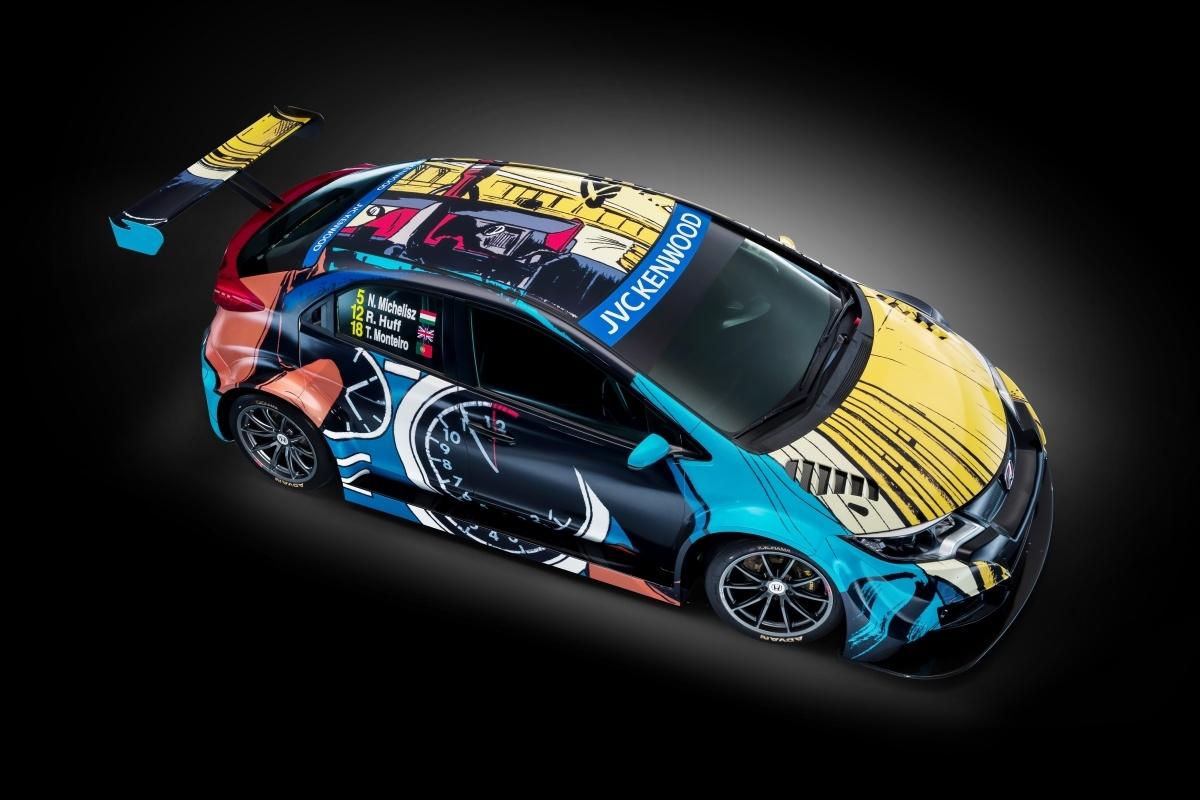 Podczas tegorocznej edycji Goodwood Festival of Speed, Honda zaprezentuje model Civic WTCC w nowych barwach, które są efektem współpracy z Jean Graton Foundation. Fot. Honda