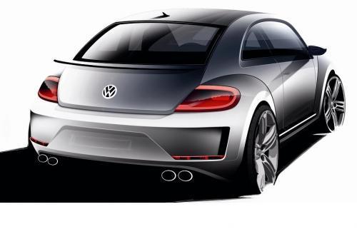 Koncepcyjny Volkswagen Beetle R Fot Volkswagen