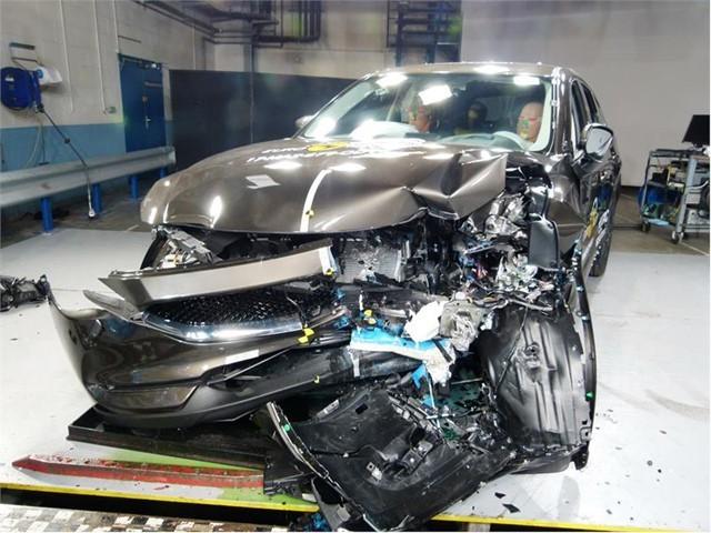 Mazda CX-5  Wersja standardowa: Ochrona dorosłych – 95 proc. Ochrona dzieci – 80 proc. Ochrona pieszych – 78 proc. Systemy bezpieczeństwa – 59 proc.  Łączna nota - pięć gwiazdek   Fot. Euro NCAP