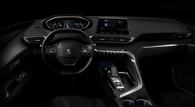Peugeot i-Cockpit  Pierwszym autem, który otrzyma i-Cockpit w ulepszonym wydaniu będzie prawdopodobnie nowy Peugeot 3008.  Fot. Peugeot