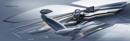 Skoda Vision IV   Skoda Vision IV jest samochodem w pełni zelektryfikowanym, zbudowanym na platformie MEB.   Fot. Skoda