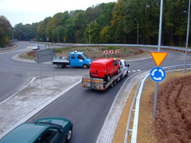 Nowe rondo na drodze krajowej nr 94 w Strzelcach Opolskich