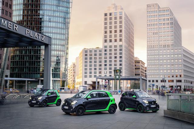 Rynkowa premiera Smarta Fortwo electric drive odbędzie się wiosną 2017 r. Tym samym wkrótce Smart będzie jedynym producentem samochodów na świecie, który całą swoją gamę oferuje zarówno z silnikami spalinowymi, jak i z napędem czysto elektrycznym.   Fot. Smart