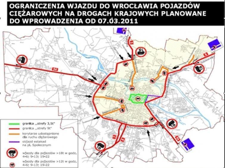Wrocław zamyka wjazd dla ciężarówek - TIR-y stop