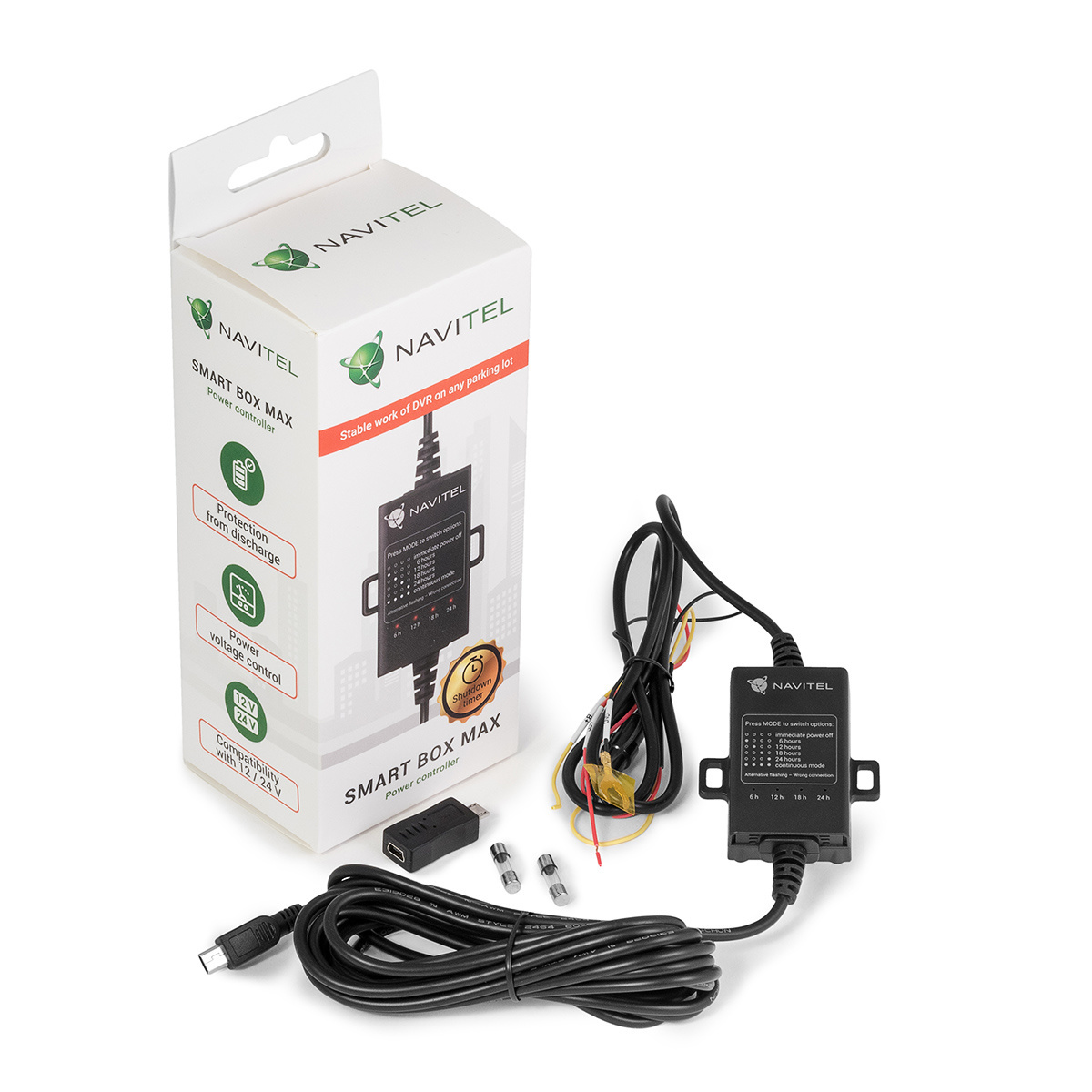 Navitel wprowadza specjalną, ogólnopolską promocję. Kupując dowolny wideorejestrator producenta, adapter zasilania NAVITEL SMART BOX MAX można nabyć za jedyne 29,99 zł. Fot. Navitel