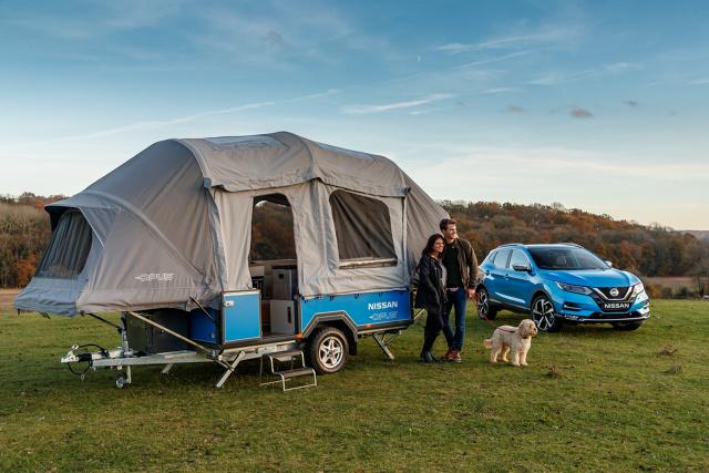 Nissan x OPUS  Koncepcyjny kamper Nissan x OPUS, wyposażony w nowy moduł zasilania Nissan Energy ROAM, wykorzystuje akumulatory wycofane z eksploatacji w samochodach elektrycznych jako źródło zasilania w czasie wypraw do miejsc bez dostępu do sieci elektroenergetycznej.   Fot. Nissan