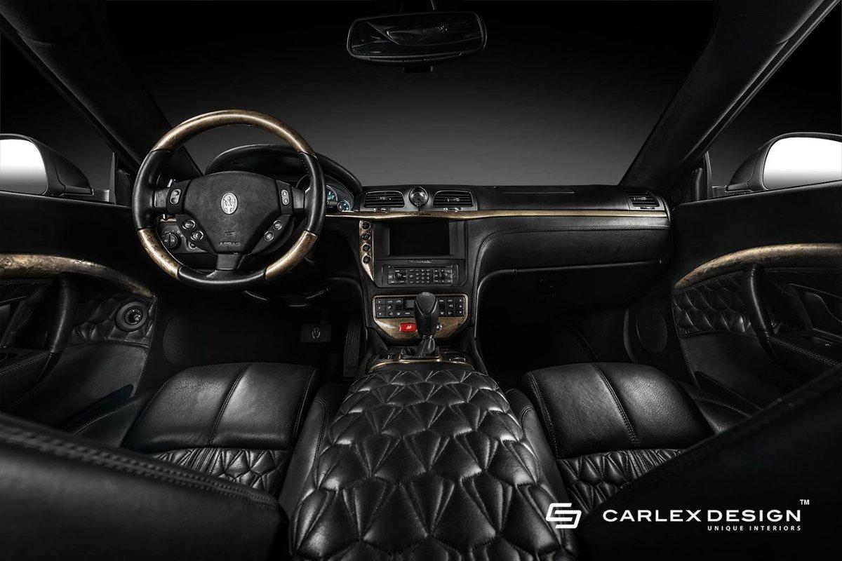 Maserati GranTurismo  Skóra, drewno oraz aluminium. To głównie te materiały dominują we wnętrzu włoskiego pojazdu.   Fot. Carlex Design