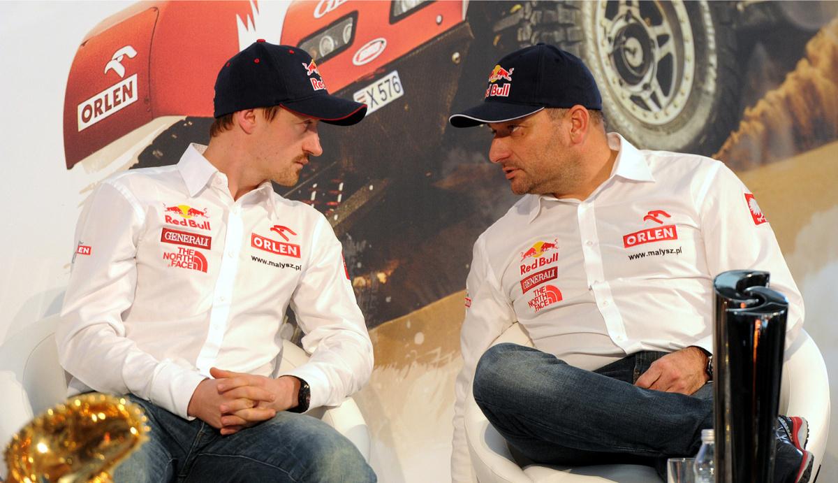 Adam Małysz i Rafał Marton będą rywalizować w Dakarze po raz czwarty, ale po raz pierwszy za kierownicą buggy. Nowy samochód ma im zagwarantować miejsce w pierwszej dziesiątce. Fot. Grzegorz Jakubowski