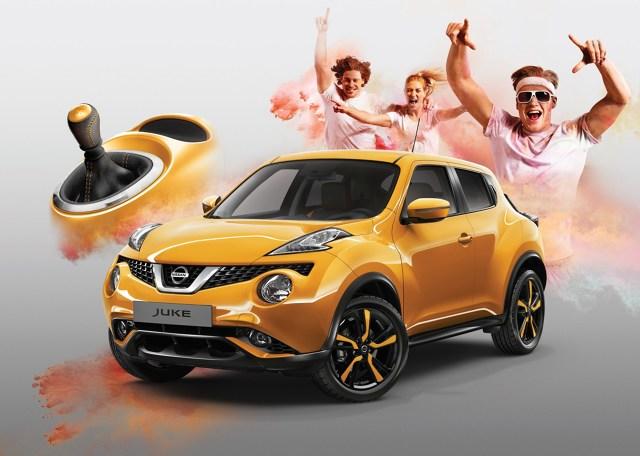 Nissan Juke z limitowanej serii Fun Edition  Juke Fun Edition dostępny jest z silnikiem benzynowym 1.2 DIG-T o mocy 115 KM, który został połączony z manualną skrzynią biegów o sześciu przełożeniach.  Fot. Nissan