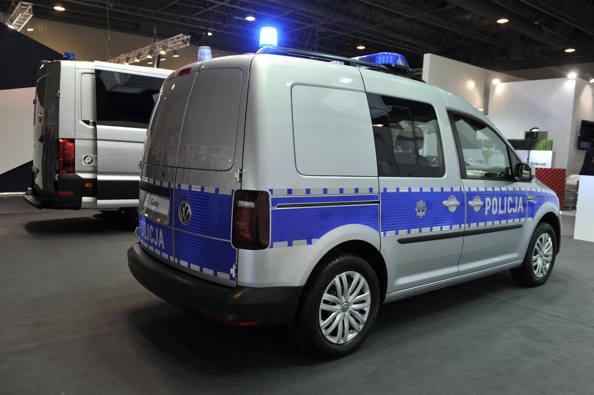 Policyjny Volkswagen Caddy. Fot. Volkswagen Samochody Użytkowe