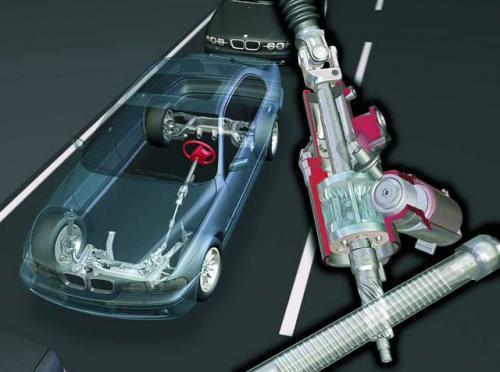 Układ kierowniczy to jeden z najważniejszych podzespołów samochodu. Jest także jednym z najbardziej awaryjnych elementów pojazdu.    fot. BMW