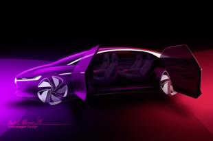 Genewa 2018 Volkswagen I.D. Vizzion. Auto bez kierownicy