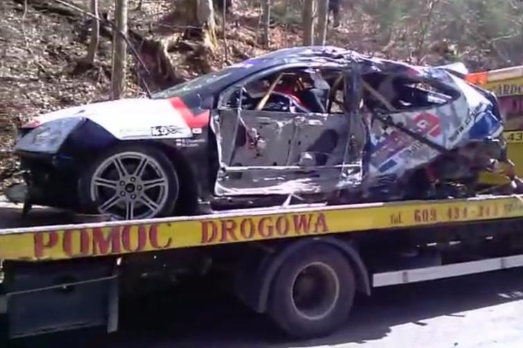 Wypadek na trasie Rajdu Świdnickiego. Sylwester Olszewski nie żyje