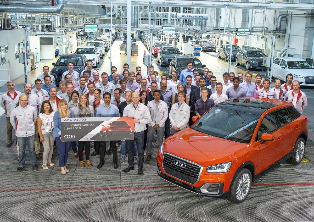 Audi Q2  Na początek, Audi Q2 będzie wyposażane w jeden z sześciu silników: trzech TFSI i trzech TDI, generujących moc od 85 kW (116 KM) do 140 kW (190 KM).  Fot. Audi