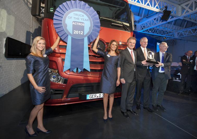 Mercedes Actros z tytułem Truck Of The Year