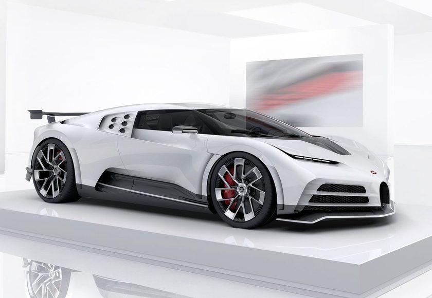 Powszechnie znane jest zamiłowanie Cristiano Ronaldo do pięknych i szybkich samochodów. Niedługo w jego pojemnym garażu stanie unikatowe Bugatti, model Centodieci.  Fot. Bugatti
