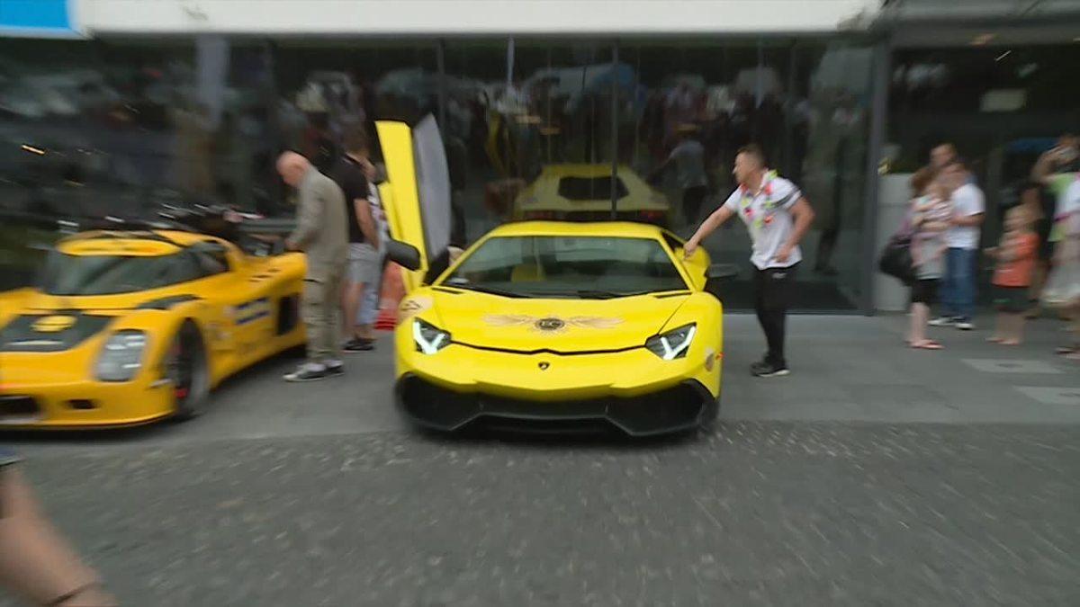 Lamborghini Ferrari Porsche Luksusowe Samochody Przemierzyły Polskę