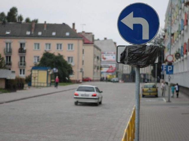 Ulica Grodzka w Słupsku dla rowerzystów. Mandaty dla kierowców