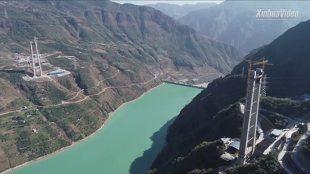 Chiny. Powstaje najwyższy most wiszący na świecie (video)