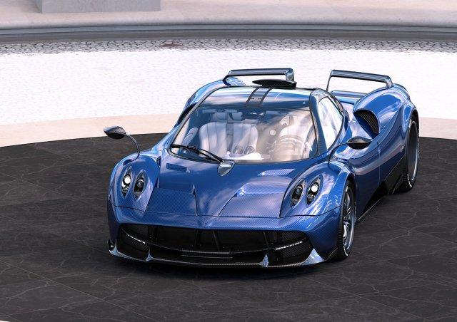 Pagani Huayra Pearl   Elementem, który wyróżnia auto od innych egzemplarzy tego modelu jest m.in. dzielony tylne spojler oraz dachowy wlot powietrza. Nie zabrakło również elementy aerodynamiczne zapożyczone z Huayry BC.  Fot. Pagani