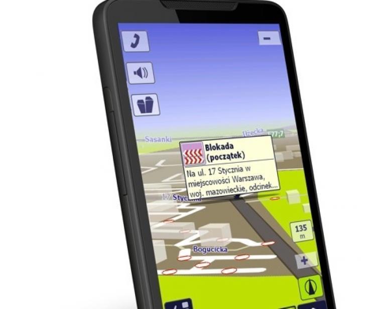 Nawigacja GPS z AutoMapą i informacjami o remontach na żywo