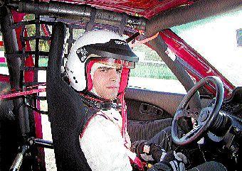 Krzysztof Kijas junior za kierownicą Hondy.