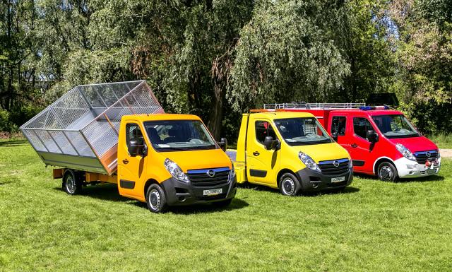 Użytkowe modele Opla  Warszawska prezentacja aut dostawczych wraz z wersjami o zabudowach specjalnych stała się okazją do podsumowania wyników Opla w Polsce i Europie.  fot. Opel