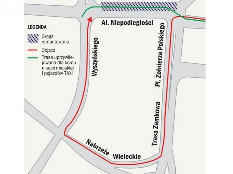 Centrum Szczecina: Aleję Niepodległości zamkną jednak w czwartek