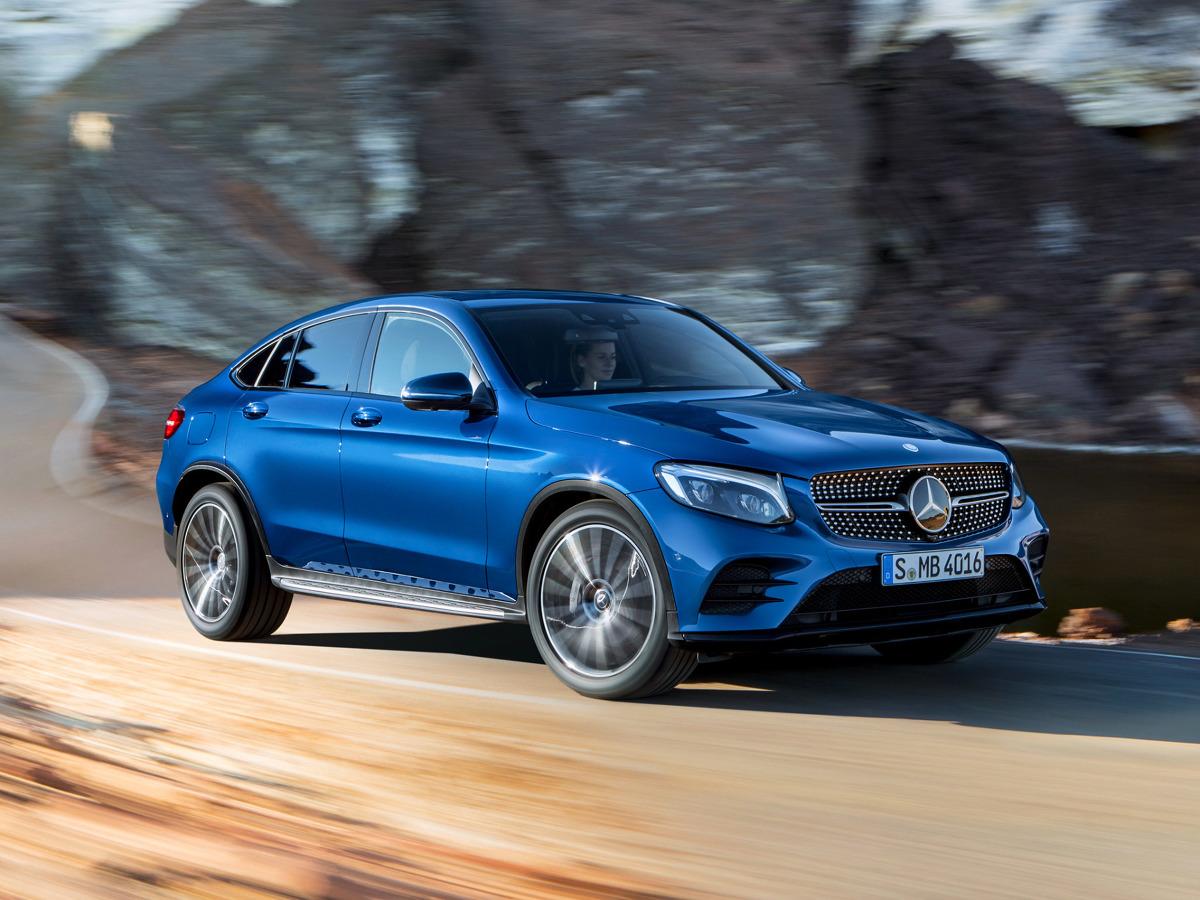 Mercedes GLC Coupe.  Ceny auta rozpoczynają się od 203 000 zł. Tyle zapłacimy za model GLC 250 4Matic Coupe, który napędza benzynowa jednostka 2.0 l turbo dostarczająca 211 KM i 350 Nm. W   Fot. Mercedes