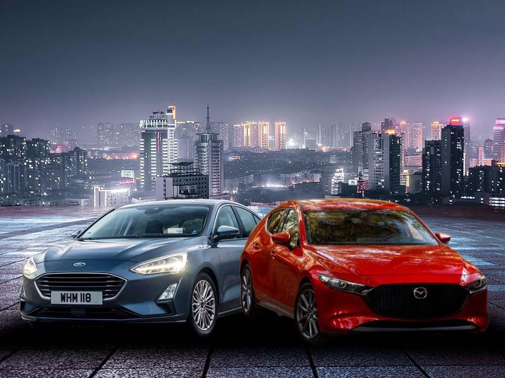 Oferta Forda Focusa rozrasta się dość wyraźnie i obecnie obejmuje silniki benzynowe i wysokoprężne w zakresie mocy od 100 do 280 KM. To daje ogromny wybór potencjalnym klientom. W nieco innym tonie przemawia oferta Mazdy 3, która jest co prawda skromniejsza, jeśli chodzi o wybór, ale posiada bardzo ciekawą propozycję w postaci miękkiej hybrydy. Porównajmy dwa z pozoru zupełnie różne auta, które należą do tego samego segmentu. Fot. Archiwum