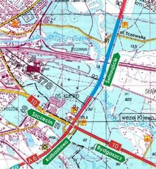 Zmiana ruchu na autostradzie A6
