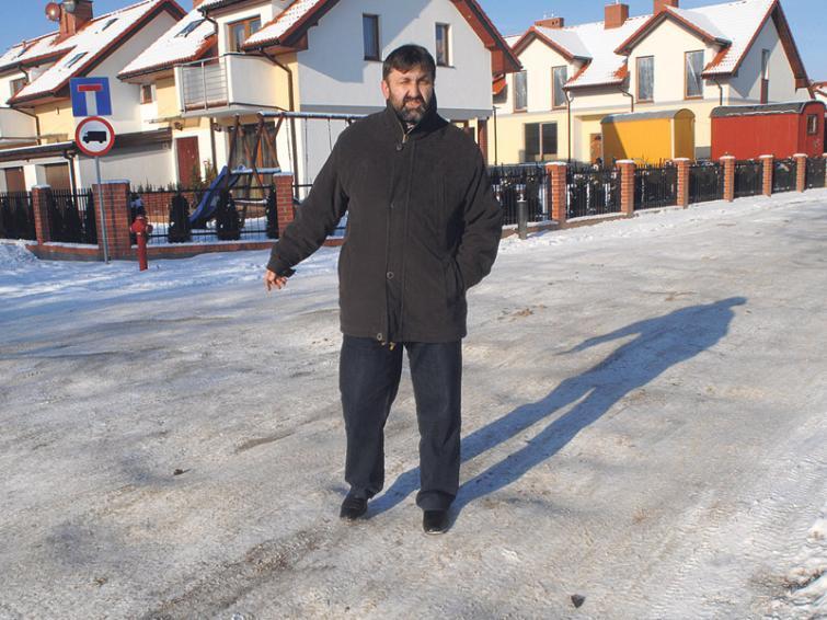 Drogi: Wyboje na ulicy Mirtowej w Koszalinie