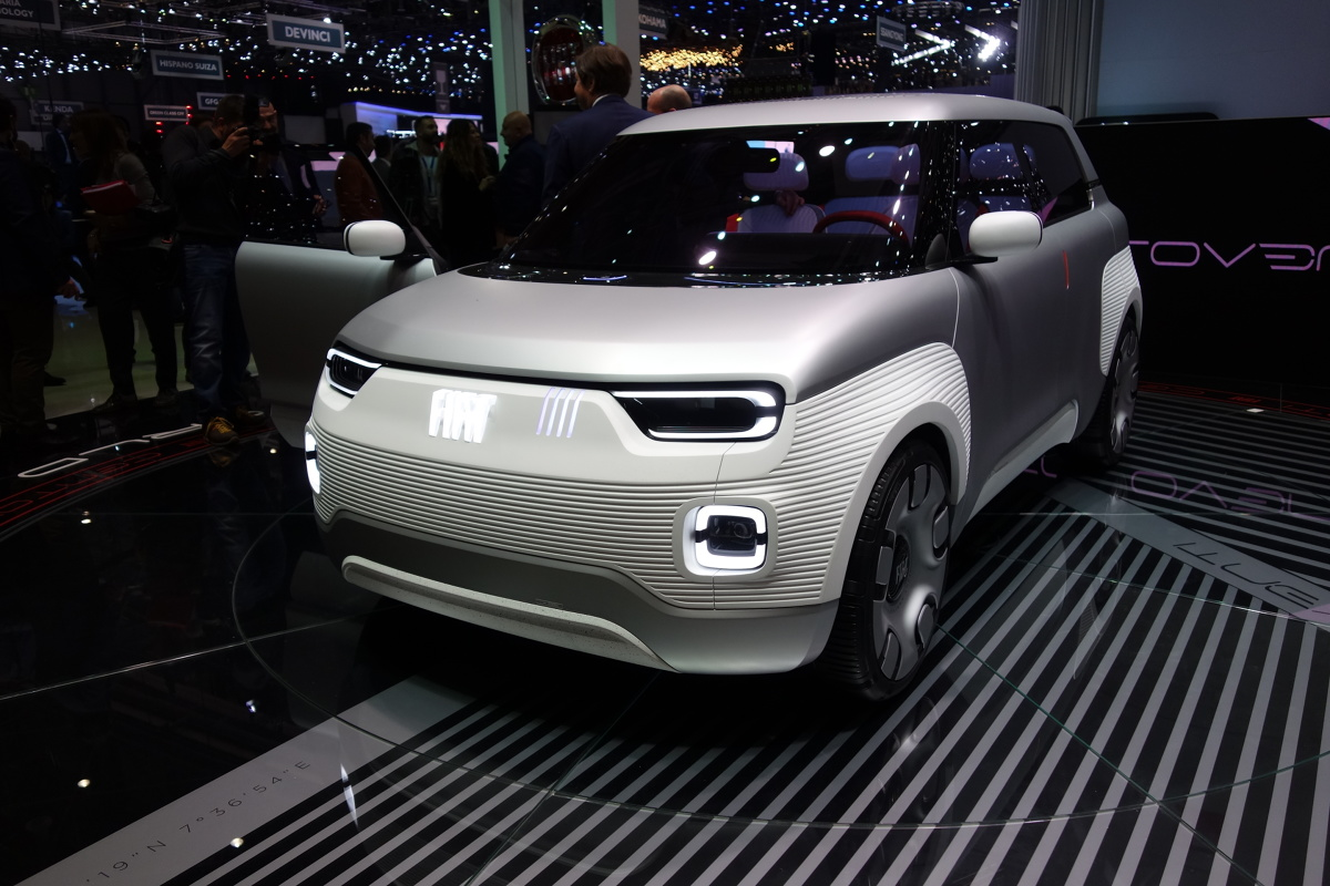 Młodzieńczy Genewa 2019. Fiat Centoventi - elektryczny maluch PX45
