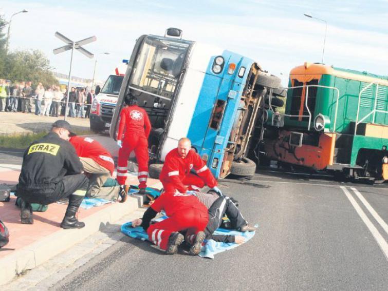 Zobacz, jak wygląda wypadek na drodze - happening w Słupsku