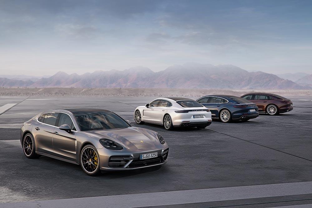 Gama nowego Porsche Panamera wzbogaca się o kolejne warianty. Podczas salonu samochodowego w Los Angeles gran turismo zadebiutuje w opcjonalnej, przedłużanej wersji Executive oraz jako bazowa odmiana z nową, benzynową jednostką V6 turbo o mocy 330 KM.   Fot. Porsche
