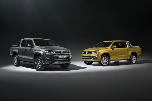 Podczas Międzynarodowej Wystawy Samochodowej (IAA) we Frankfurcie marka Volkswagen Samochody Użytkowe prezentując koncepcyjny model Amarok Aventura Exclusive z metalizowanym lakierem w kolorze Kurkuma zapowiada przyszłe auto z najmocniejszym w gamie silnikiem 3.0 TDI. We Frankfurcie będzie także prezentowany nowy model specjalny Dark Label, który wiosną 2018 roku pojawi się w sprzedaży.  Fot. Volkswagen