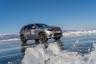 Jeep Grand Cherokee. Rekord prędkości na lodzie