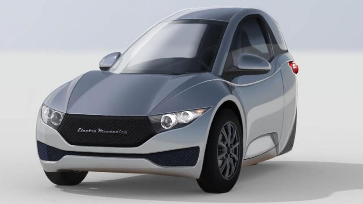 Electra Meccanica Solo  Ładowanie auta z domowego gniazdka trwa 3 godziny, a na jednym ładowaniu będziemy mogli pokonać dystans 200 km.   Fot. Electra Meccanica