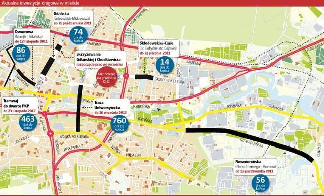 Bydgoszcz. Jak długo roboty drogowe będą się dawać nam we znaki?