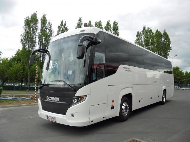 Autobusy na polską prezydencję w UE - Scania Touring HD i Irizar i6