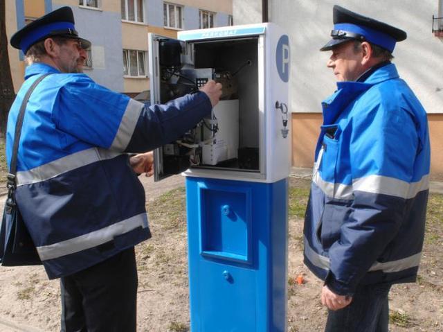 Kontrolerzy na koszalińskich parkingach