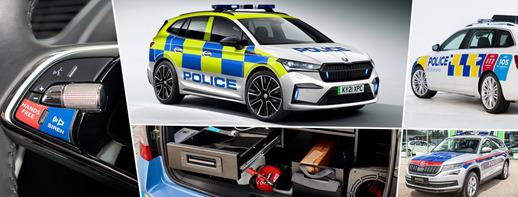 Skoda od wielu lat jest dostawcą pojazdów policyjnych na całym świecie. Z samochodów marki korzysta policja m.in. w Czechach, Wielkiej Brytanii, Austrii, Polski czy Nowej Zelandii. Lampy ostrzegawcze, radia, kamery czy reflektory 360 stopni to zaledwie część z wielu modyfikacji wprowadzonych do pojazdów na potrzeby policji.   Fot. Skoda