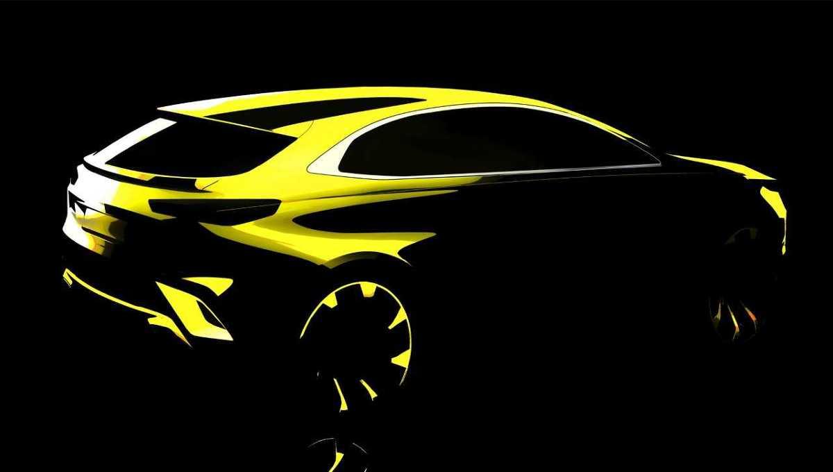 Kia ujawniła dziś pierwszy szkic nowego crossovera opracowanego na bazie nowego Ceeda.   Rys. Kia