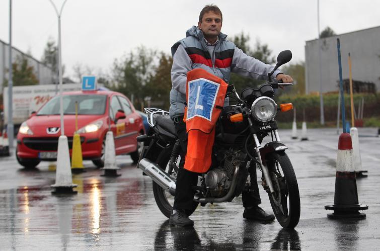 Potężne kolejki po prawo jazdy na motocykl