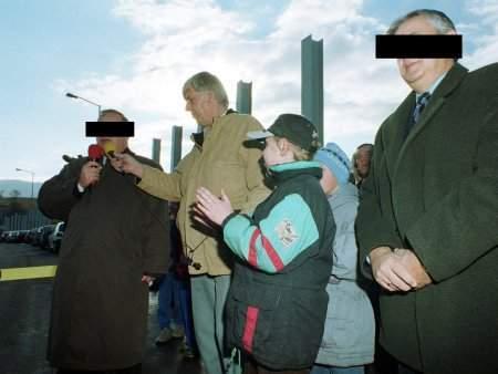 FOT. Dariusz Gdesz: Jerzy S., Włodzimierz G., byli prezydenci Wałbrzycha uroczyście otwierali część obwodnicy miejskiej. Za nieudaną budowę kolejnej staną przed sądem.
