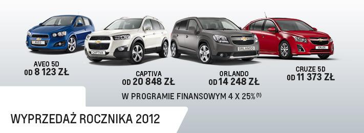 Promocje Chevroleta Wyprzeda Rocznika 2012