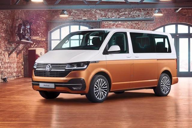 Światowa premiera kolejnej odsłony legendarnego modelu serii T – Multivana 6.1  Gama najnowszych silników TDI obejmuje jednostki napędowe o mocy od 90 do 199 KM. Nowością w ofercie jest wersja elektryczna, która – w zależności od pojemności akumulatora – umożliwia zasięg do ponad 400 km. W pierwszych krajach model T6.1 będzie oferowany od jesieni tego roku.  Fot. Volkswagen