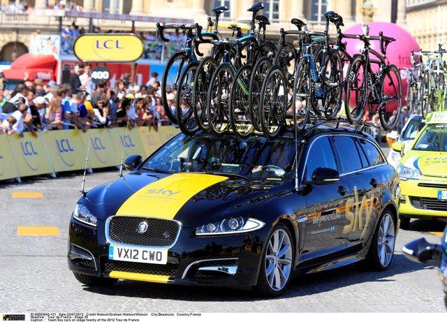 Jaguar XF Sportbrake Team Sky , Fot: Jaguar