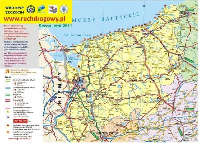 Droga nad morze: Jak najlepiej dojechać nad Bałtyk [mapa]