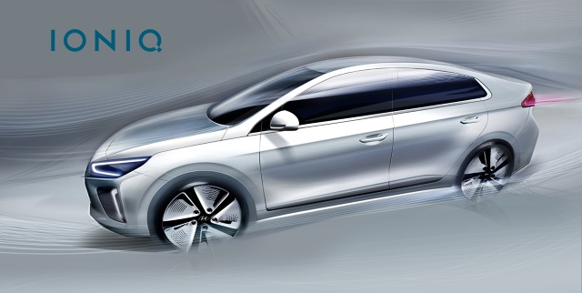Hyundai zaprezentował szkice modelu IONIQ –pojazdu z alternatywnym napędem, którego premiera będzie miała miejsce na początku przyszłego roku w Korei / Fot. Hyundai